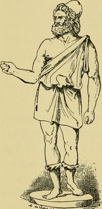 Drawing of Hephaestus from 1906 book.