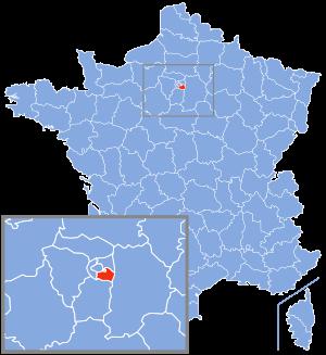 Localisation du Val-de-Marne en France