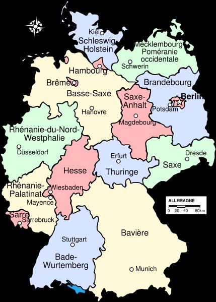 Carte Allemagne Avec Lander.Land Allemagne Vikidia L Encyclopedie Des 8 13 Ans
