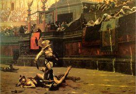 Le chant du cirque - Victor Hugo 280px-Jean-L%C3%A9on_G%C3%A9r%C3%B4me_-_Pollice_Verso_-_1872