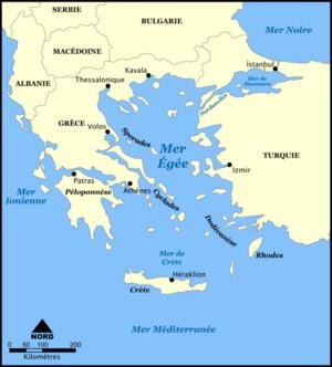 Carte Mediterranee Crete.Mer Egee Vikidia L Encyclopedie Des 8 13 Ans