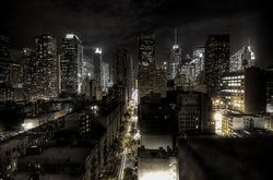 New York la nuit.
