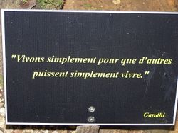 Citation de Gandhi.JPG