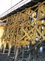 Wooden trestle bridge approach.JPG
