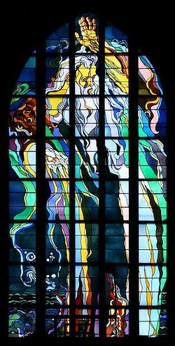 Kraków - Church of St. Francis - Stained glass 01.jpg