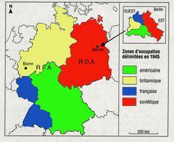 Carte Occupation Allemagne 1945.Blocus De Berlin Vikidia L Encyclopedie Des 8 13 Ans