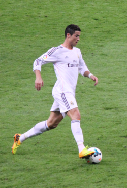 """CR7"" avec le Real Madrid, en 2013."