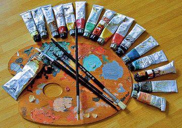 Peinture vikidia l encyclop die des 8 13 ans - Nettoyer des pinceaux de peinture ...