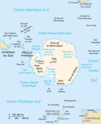 carte de l antarctique