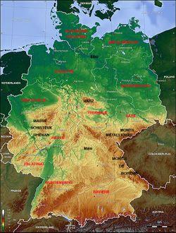 Carte Allemagne Facile.Relief De L Allemagne Vikidia L Encyclopedie Des 8 13 Ans