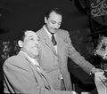 Django Reinhardt and Duke Ellington, Aquarium, New York, N.Y., ca. Nov. 1946 (William P. Gottlieb 07331).jpg