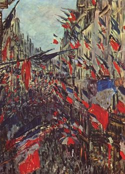 Un tableau de Claude Monet, fête nationale.