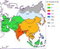 Carte Asie Religion.Bouddhisme Vikidia L Encyclopedie Des 8 13 Ans