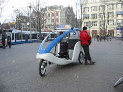 Bicycle taxi Amsterdam february 2005.JPG
