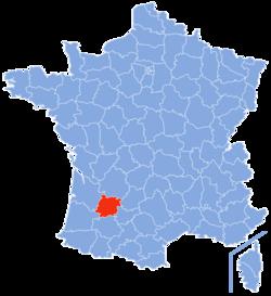 Localisation du Lot-et-Garonne en France