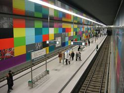 La station du métro de Munich Georg-Brauchle-Ring