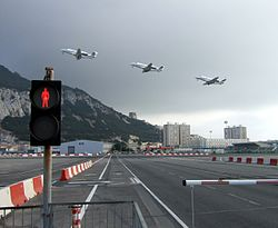 Gibraltar Airport jet take-off.jpg